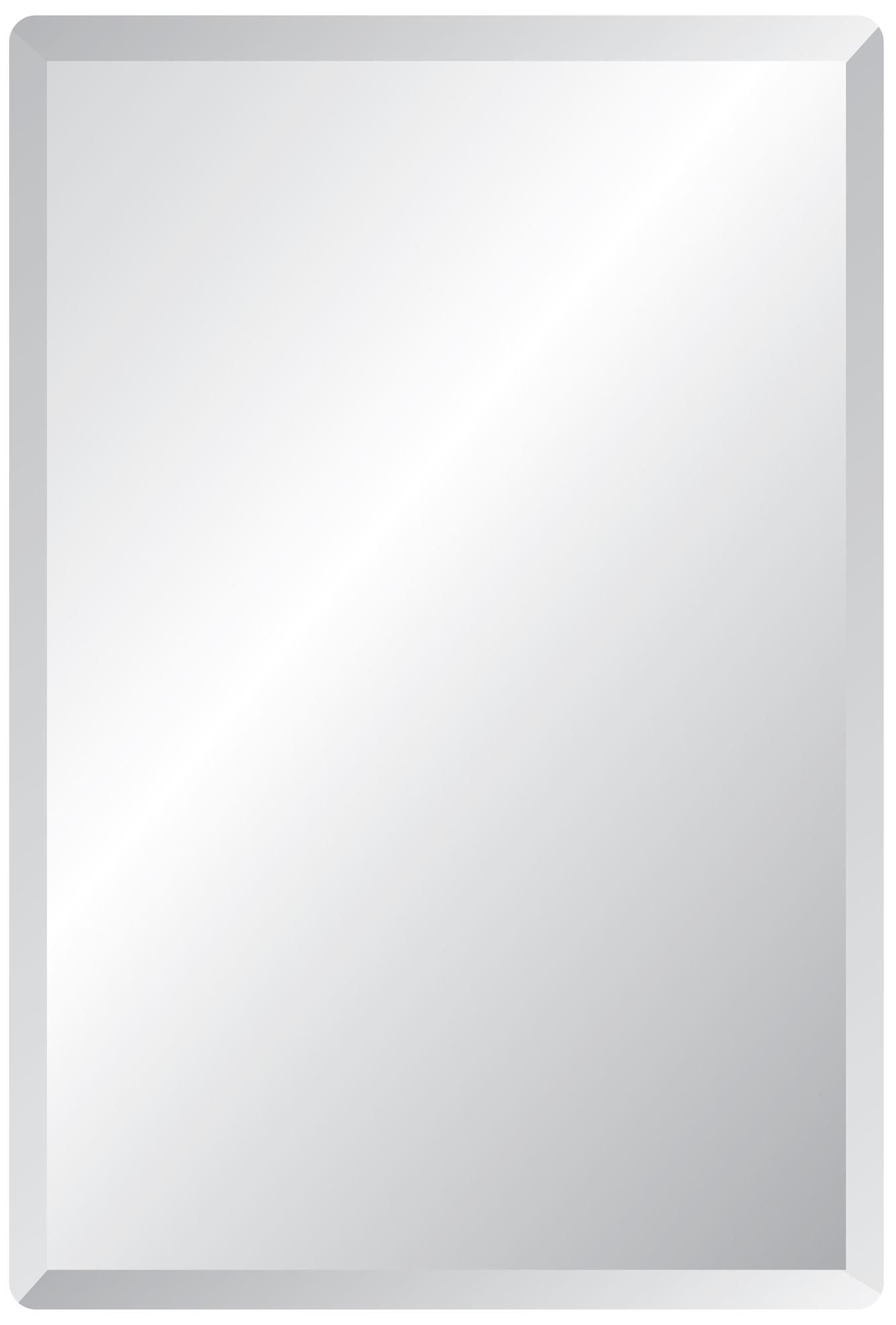 "frameless rectangular 40"" high 30"" wide beveled mirror 