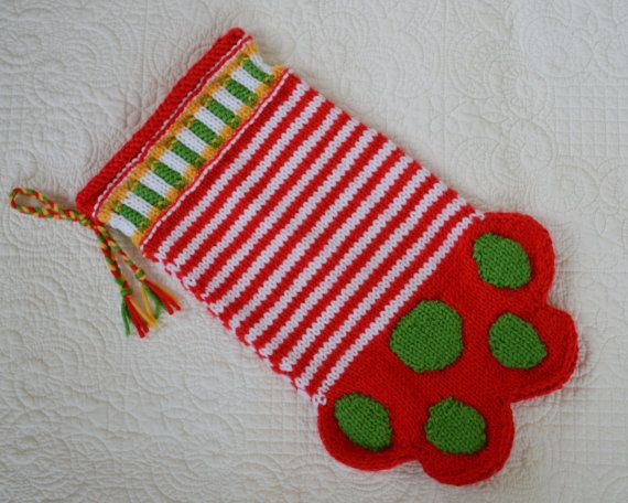Pdf Knitting Pattern Paw Stocking Dog Or Cat Christmas For Allie