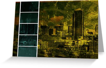 Escala Seattle Yellow Green Collage by stine1