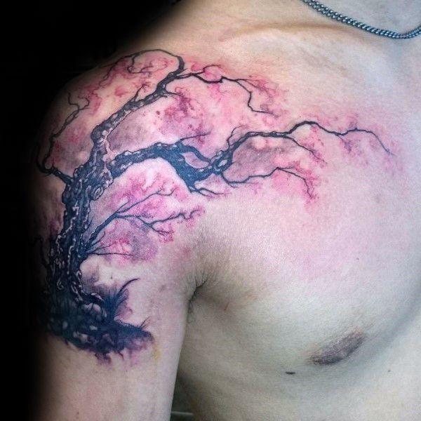 Top 101 Cherry Blossom Tattoo Ideas 2020 Inspiration Guide Cherry Tree Tattoos Tree Tattoo Men Cherry Blossom Tree Tattoo
