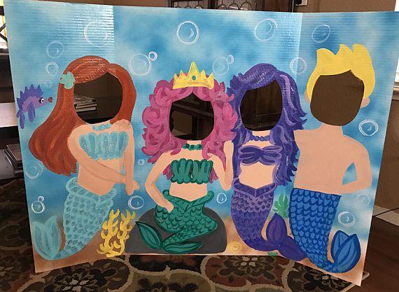 Mermaid Party Mermaid Birthday Mermaid Cutout Mermaid