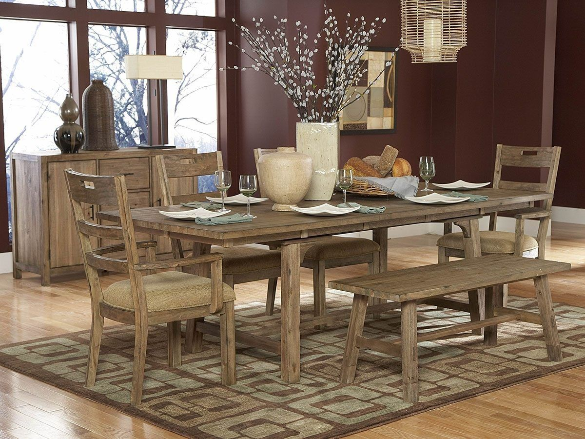 Modern rustic dining room table  Dining Room Rustic Dining Room Table With Leaf Large Rustic Dining