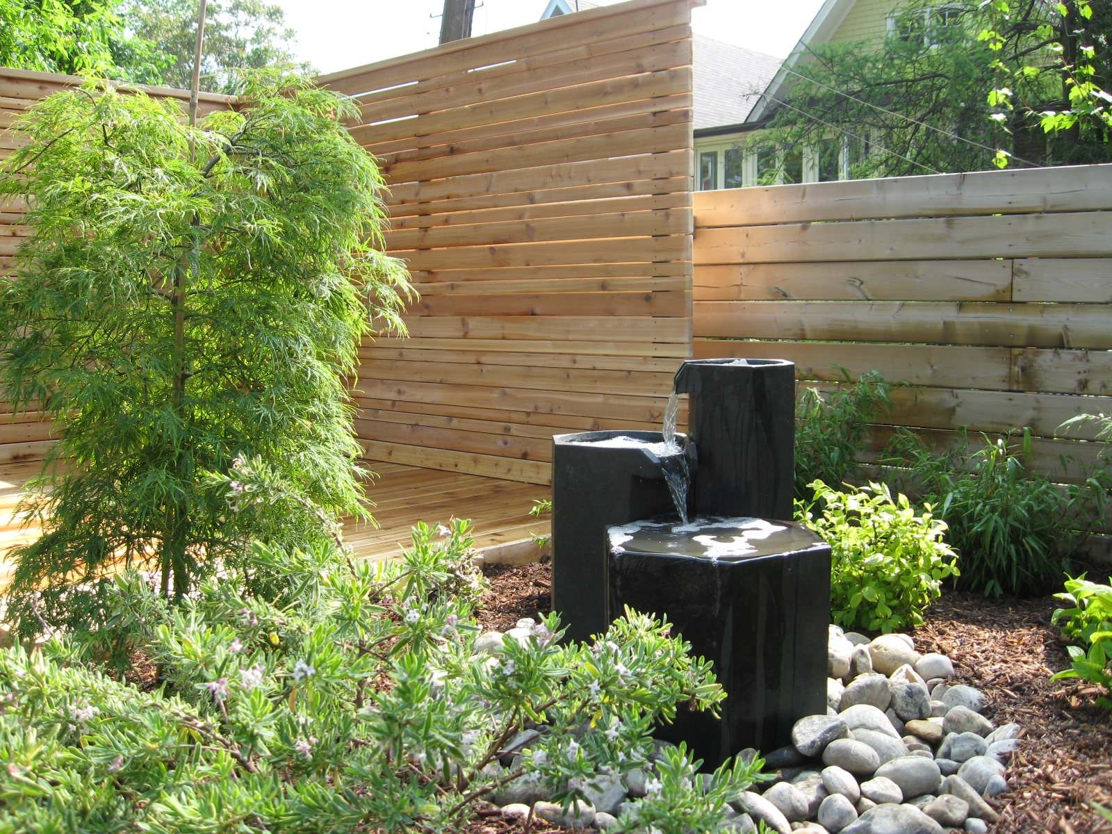 aquascaping ideas for welcoming your relaxed time wood fence