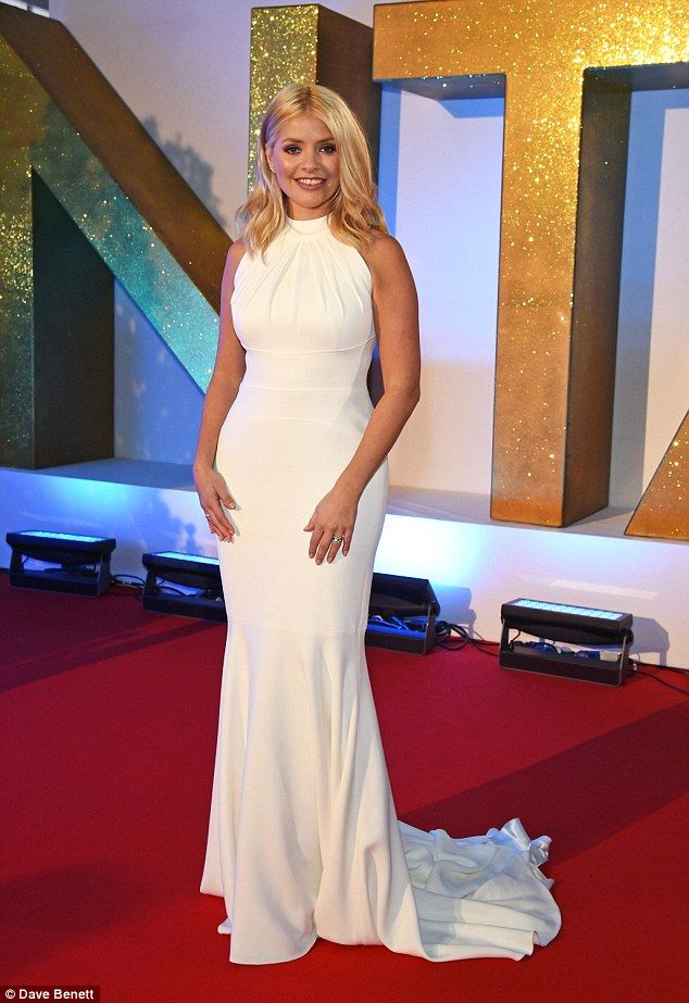 A Vision Holly Looked Much More Refreshed As She Wore Her Long White Gown