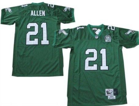 3393fce7de1 ... sale philadelphia eagles 21 eric allen light green throwback 99th jersey  136be 260f5