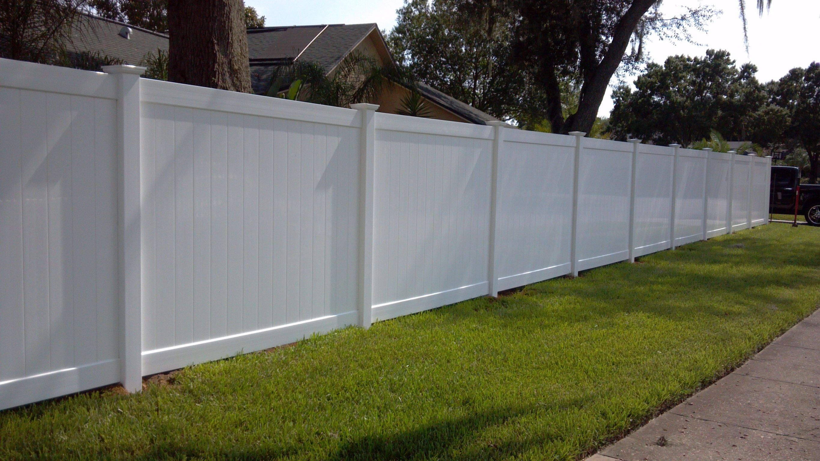 Outdoor yard vinyl fences prices cheap pvc wpc fence