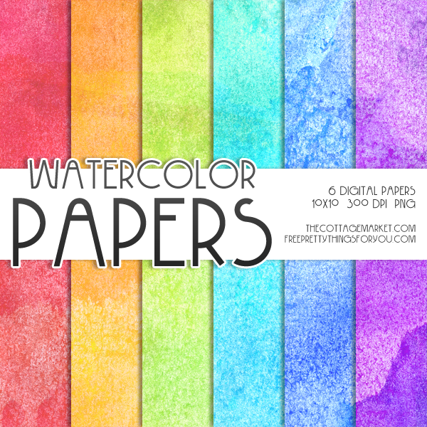graphic relating to Printable Watercolor Paper named Absolutely free Watercolor Electronic Paper Pack 1 Digi S :-: Paper