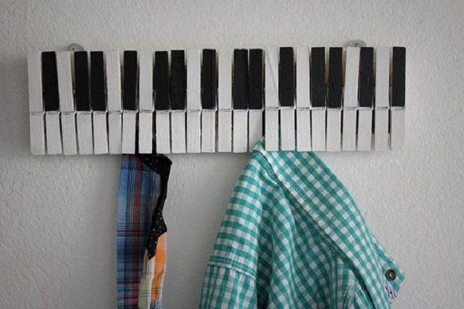 Formas Originales De Reciclar Pinzas De Ropa Pinzas De Ropa Manualidades Manualidades Musicales