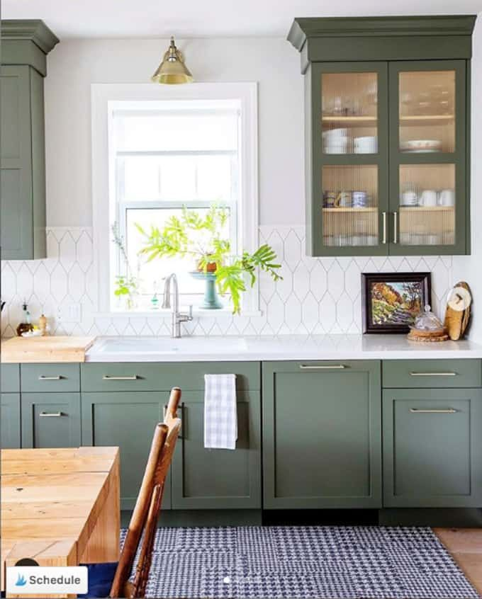 Photo of Moody Green Kitchen Cabinet Paint Colors