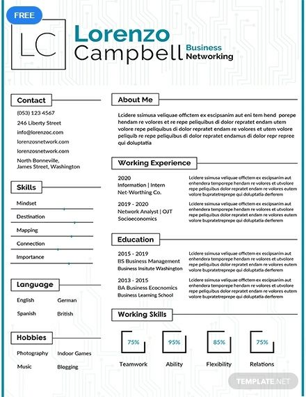 Free Hardware And Networking Fresher Resume Resume Templates Resume Template Free Resume