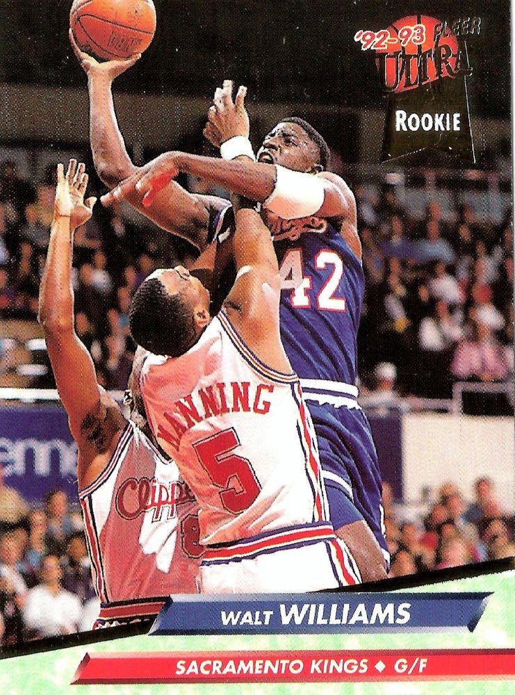 92 93 Fleer Ultra 352 Walt Williams Sacramento Kings Rookie Card