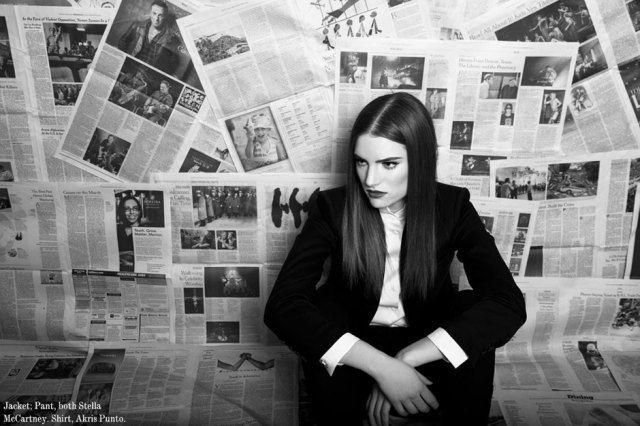 Black White By Renee Rodenkirchen For Lilogi Newspaper Photo Vintage Photoshoot Creative Portrait Photography