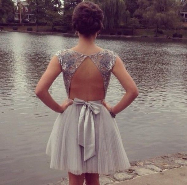 Prom Dresses with Bow in Back