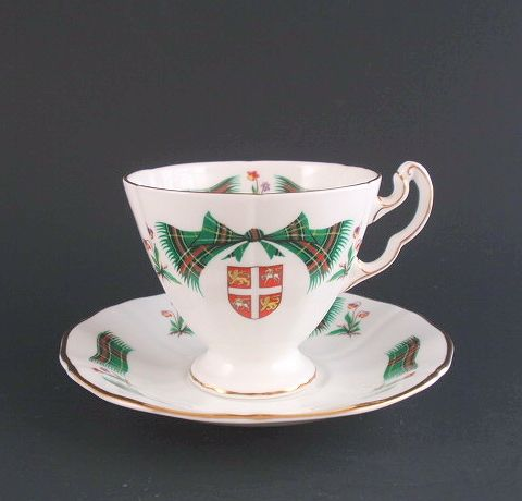 Royal Adderley Newfoundland Tartan Tea Cup Saucer Set 24 95 For Diane Gl