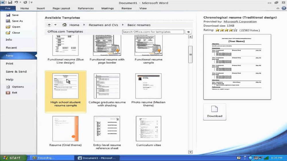 """How To Make A Resume With Microsoft Word """" Youtube"""