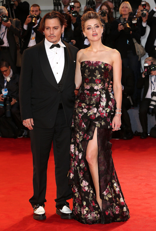 Johnny Depp And Amber Heard Share The Look Of Love On The Red Carpet Johnny Depp And Amber Amber Heard Johnny Depp