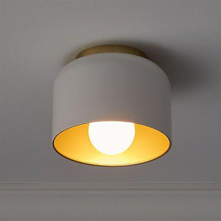 Bell White Flush Mount Light Reviews Oświetlenie