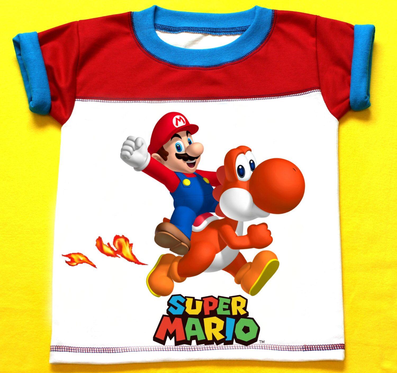 Mario bro personalized boy birthday shirt by