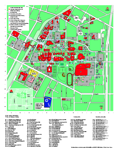University Of Akron Main Campus Map Maps Local