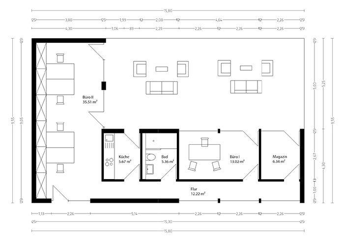 Neues Wohnen im CUBIG Designhaus Minihaus Grundriss