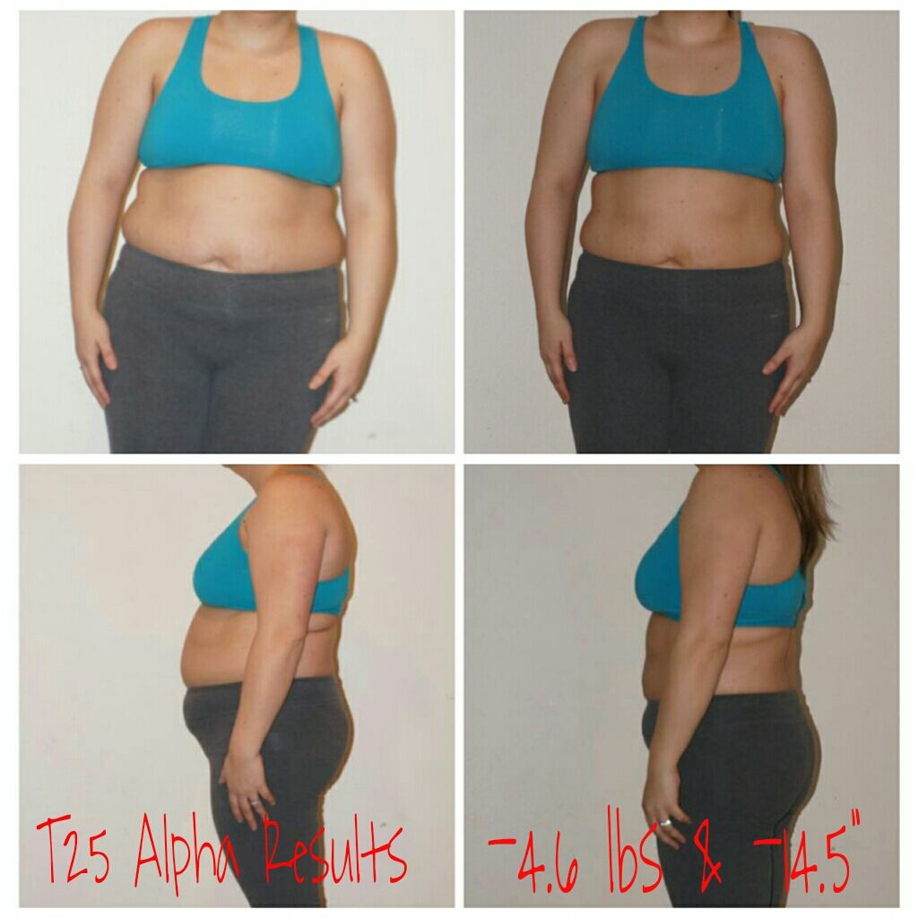 Focus T25 Alpha Phase results! Doing weight watchers for the