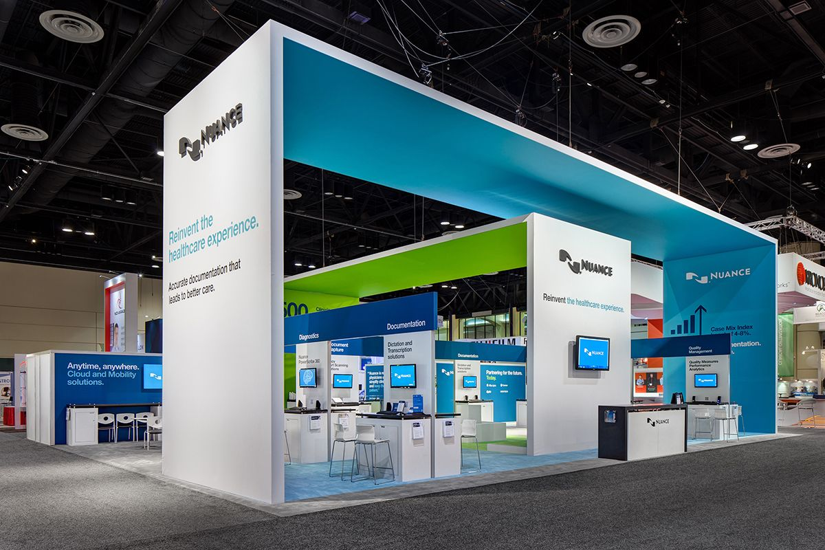 Nuance at himss exhibition exhibiotionstand design display for Trade exhibition
