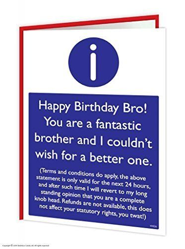 Brother T Cs Card Amazon Co Uk Office Products My Besties B Day