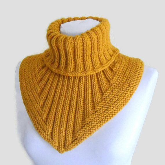 Men scarf cowl neck warmer knit collar soft hand por likeknitting ...