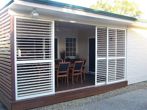 It S Be Great To Have Louvered Panels To Enclose The Patio