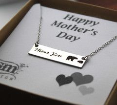 Mama Bear Bar Necklace