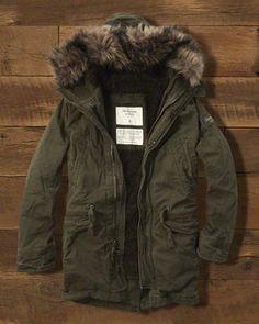 2d6e2c673f87c For Him: Mens Sherpa Lined Premium Fishtail Parka @Abercrombie & Fitch