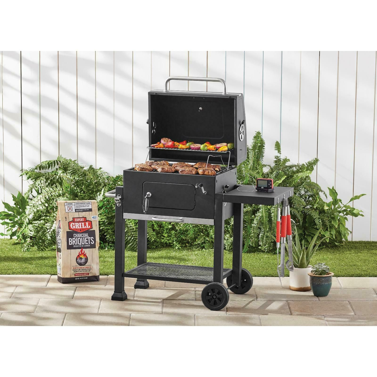 Heavy Duty 24in Charcoal Grill Bbq Outdoor Camping Barbecue Patio Burner Smoker Smokers Ideas Of Smokers Smokers Charcoal Grill Barbecue Smoker Grilling