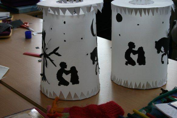 St. Martin Silhouette Lanterns Tutorial In German