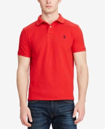 Ralph Lauren Mens Harbor Island Mesh Rugby Polo Shirt
