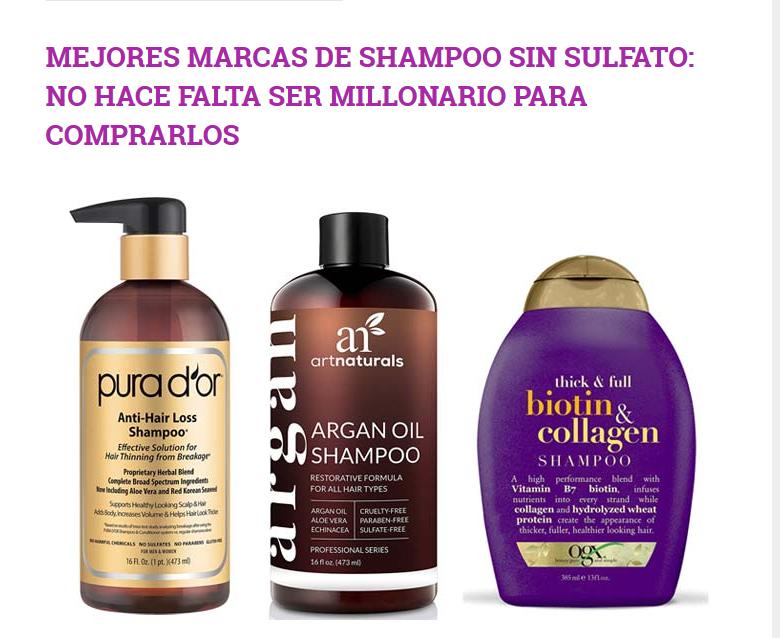 Mejores 3 Shampoos Sin Sulfato 2020 Solo Para Personas