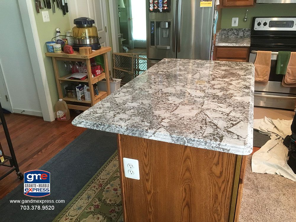 Island Top This Is A Bianco Antico Granite Color With A Triple