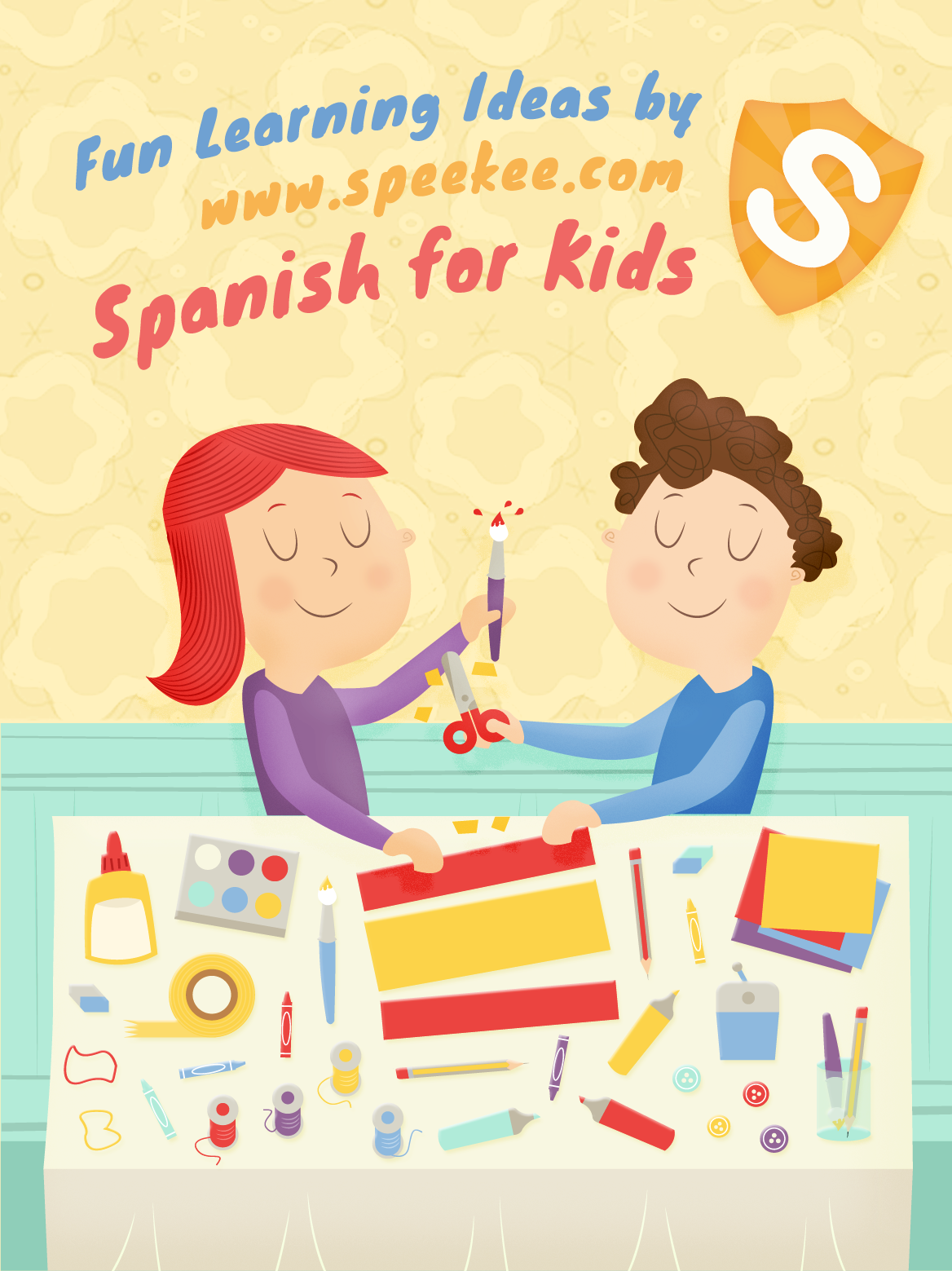 Spanish Color Worksheet Elementary