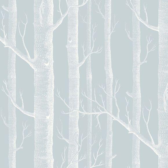 Papier Peint Woods Bleu Clair Et Blanc De Cole Son Papier Peint Papier Peint Chambre Garcon Papier Peint Blanc
