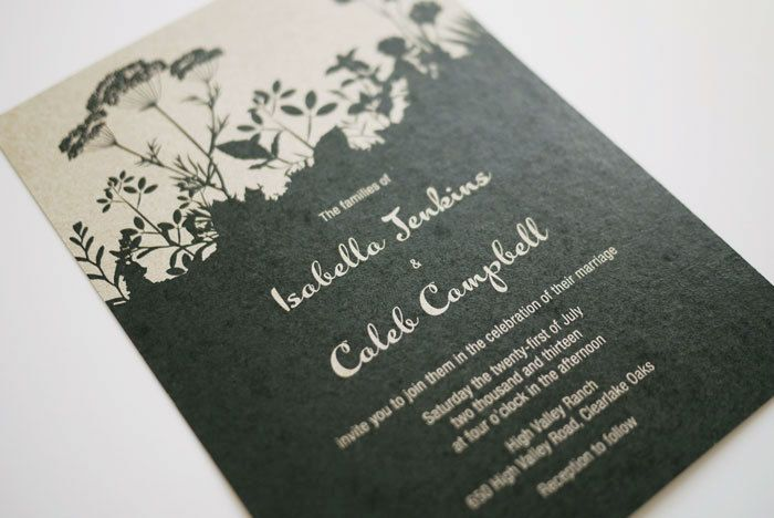 Rustic Nature Printable Wedding Invitation Template $3500, via - invitation template nature