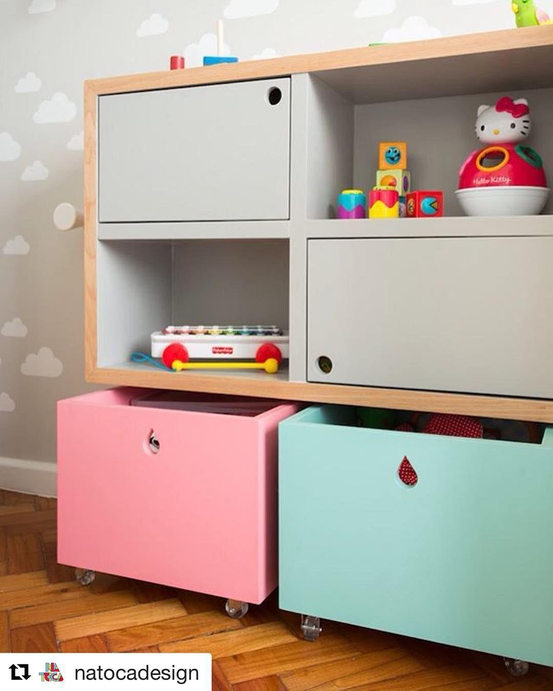Para Organizar Brinquedos Nada Melhor Do Que Nichos E Ba S Voc  ~ Como Organizar O Quarto Com Nichos