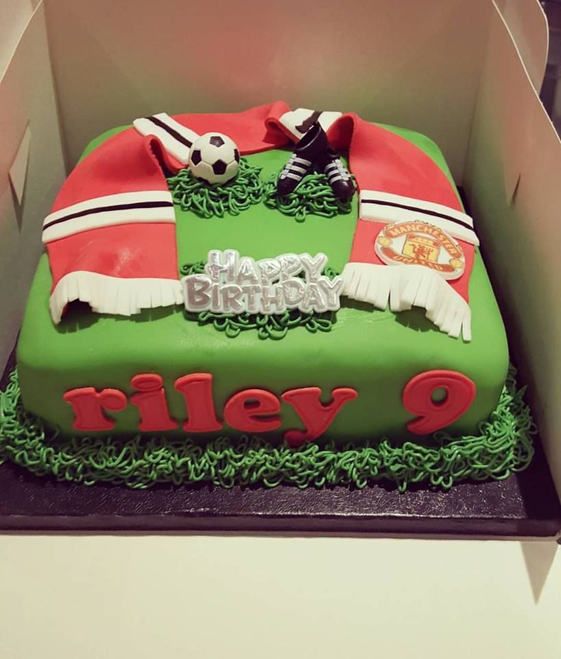 Manchester United Football cake by Kerry Marks Craft Company