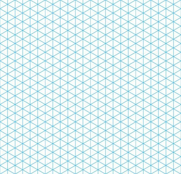 Cyan Isometric Grid Seamless Pattern  Isometric Grid