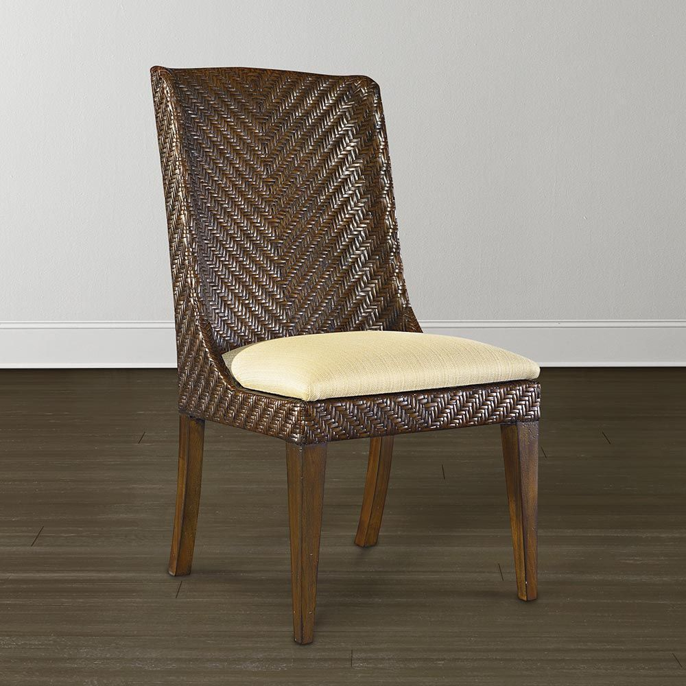 Buy Woven Dining Chair Custom Room Seating At Bassett Furniture Large Home Furnishings Selection