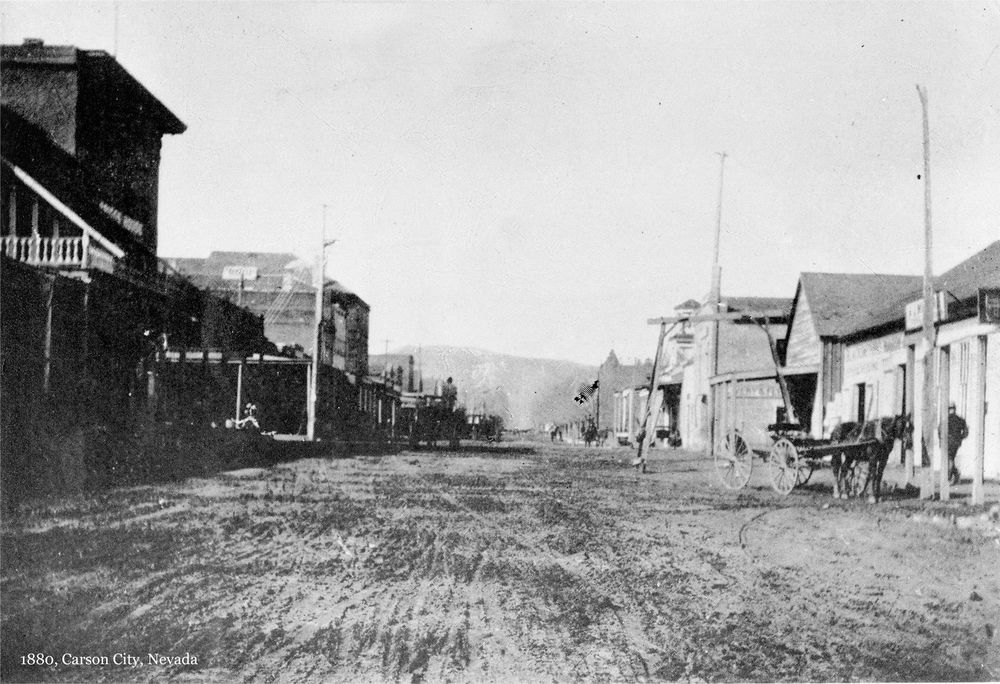 1880 Carson City Nv Old Town View King Street 16 X11 Photo Giclee Print Carson City Old Town City