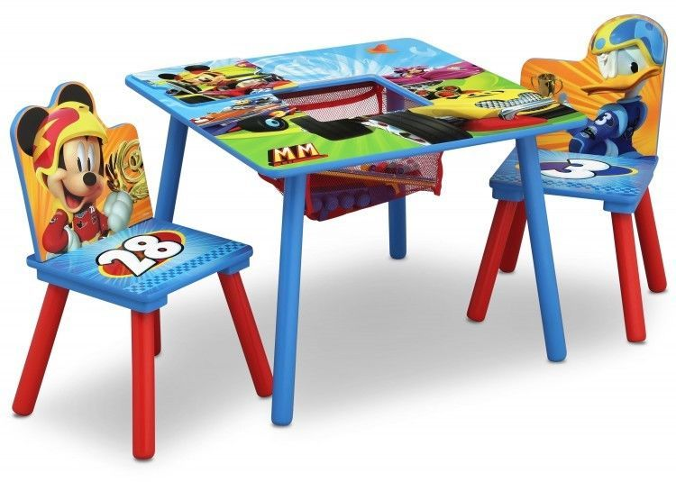 Mickey Mouse And Donald Duck Play Activity Table And Chair