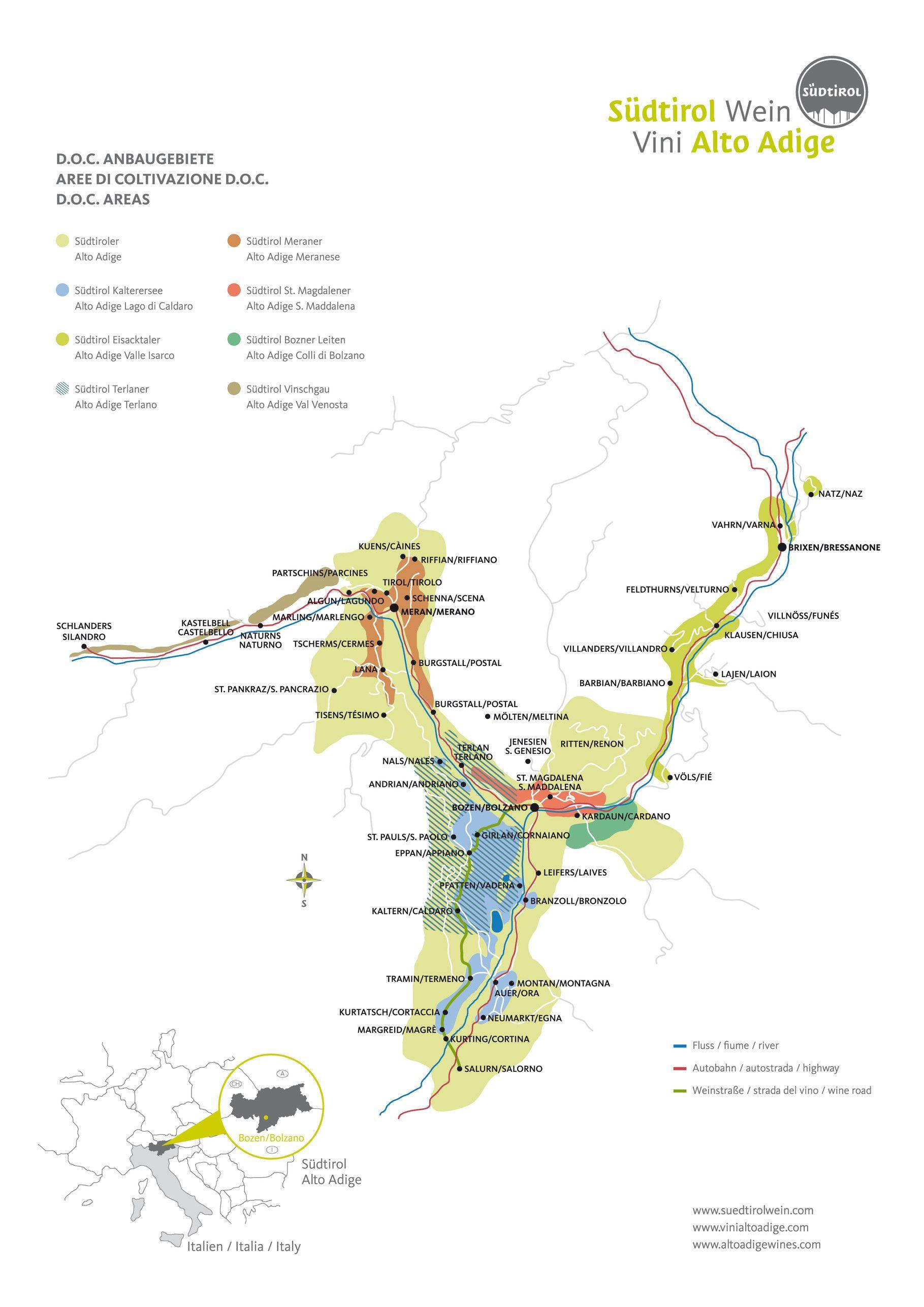 Die Weinanbaugebiete Von Sudtirol Im Uberblick Sudtirol Wein