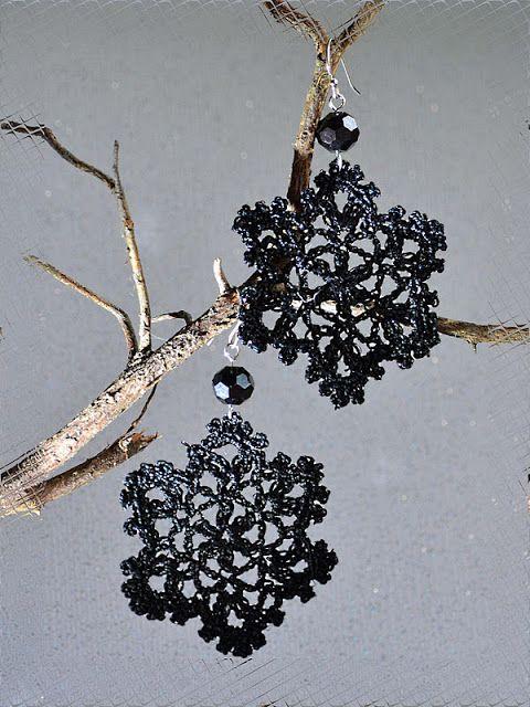 Outstanding Crochet: Crochet Earrings | korut | Pinterest | Patrones ...