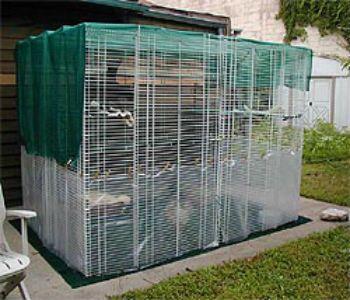 Diy Wire Shelves Enclosure Furry Love Pinterest