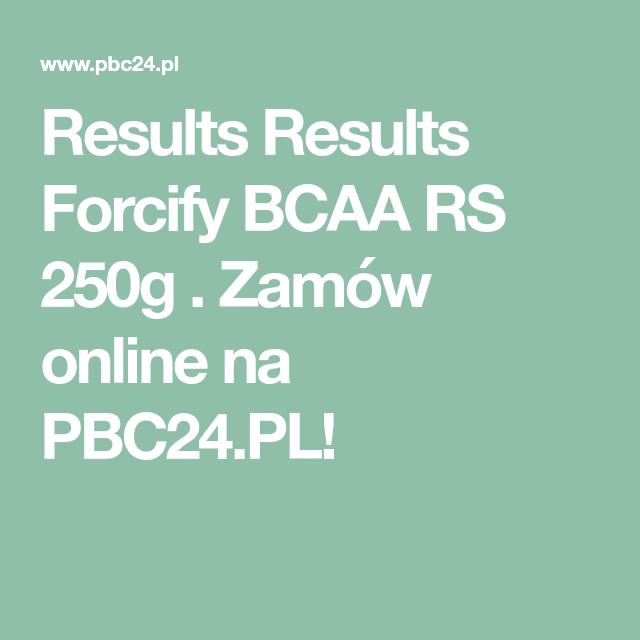 Results Forcify Bcaa Rs 250g Bcaa Online