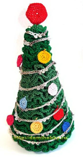 Christmas tree in miniature  ☀CQ #crochet #christmas